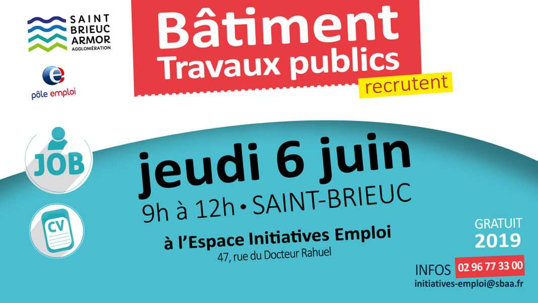 Opération de recrutement - Secteur du bâtiment - Saint-Brieuc 0